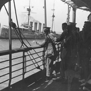 British Troops on a Troopship, World War I, C1914