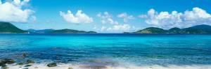 British Virgin Islands, St. John, Sir Francis Drake Channel, View of Sea and Island