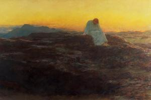 Christ in the Wilderness, 1898 by Briton Rivière