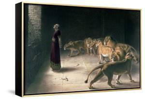 Daniel in the Lions Den, Mezzotint by J. B. Pratt, with Hand Colouring by Briton Rivière