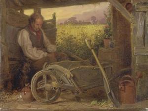 The Old Gardener, 1863 by Briton Riviere