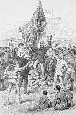 Britons Celebrating in New Guinea