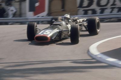 Brm of Dickie Attwood Entering a Corner, Monaco Grand Prix, 1968