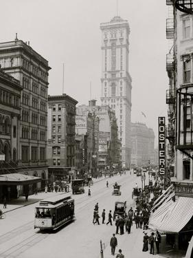 Broadway and Times Building (One Times Square), New York City