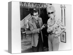 BROADWAY DANNY ROSE, 1984 directed by Woody Allen Woody Allen and Mia Farrow (b/w photo)