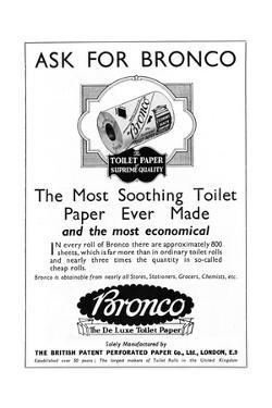 Bronco, Toilet, Paper, Advertisement
