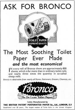 Bronco, Toilet, Paper, Advertisement