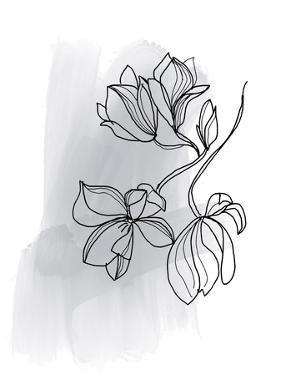 Botanique en Gris 1 by Bronwyn Baker