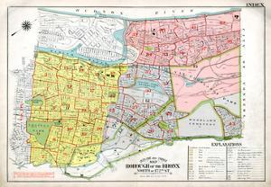 Bronx Index Map, 1938