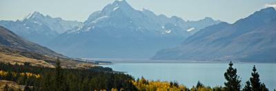 Mt Cook Taken from Distance, with Lake Tekapo in Foreground