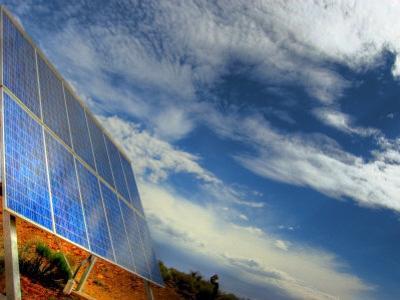 Solar Panel in the Desert of South Australia by Brooke Whatnall
