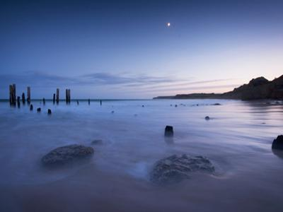 Sunrise over Willunga Beach, with Old Jetty in Foreground