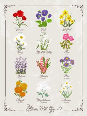 Floral Birthflowers 1 by Brooke Witt