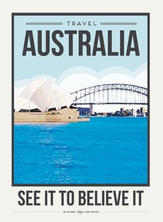 Travel Poster Australia by Brooke Witt