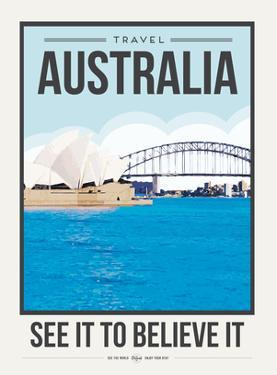 Travel Poster Australia by Brooke Witt