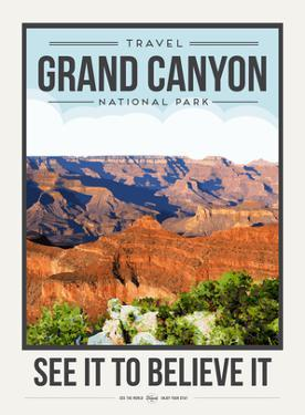 Travel Poster Grand Canyon by Brooke Witt