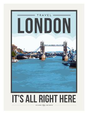 Travel Poster London by Brooke Witt