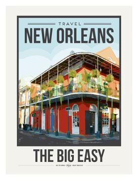 Travel Poster New Orleans by Brooke Witt