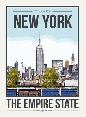 Travel Poster New York City by Brooke Witt