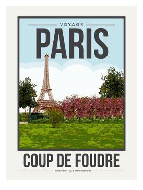 Travel Poster Paris by Brooke Witt