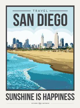 Travel Poster San Diego by Brooke Witt