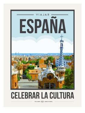 Travel Poster Spain by Brooke Witt