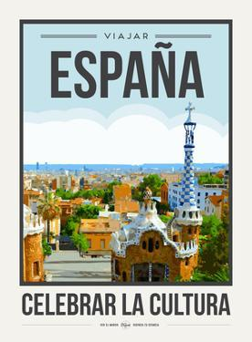 Travel Poster Spain by Brooke Witt