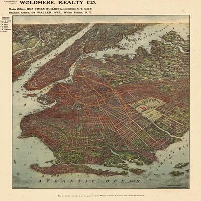 Brooklyn 1908 Bird's Eye View