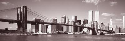 Brooklyn Bridge, Hudson River, New York City, New York State, USA