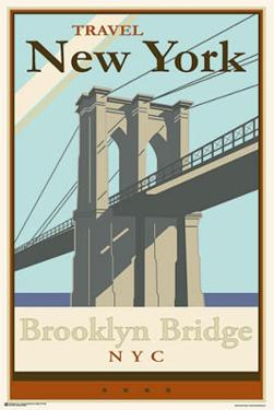 Brooklyn bridge posters at allposters brooklyn bridge travel new york malvernweather Choice Image