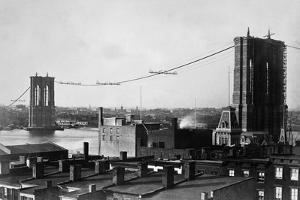 Brooklyn Bridge under Construction