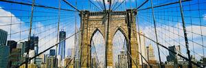 Brooklyn Bridge with Freedom Tower, New York City, New York State, USA