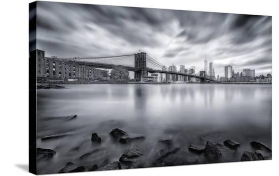 Brooklyn Bridge-Javier De La-Stretched Canvas