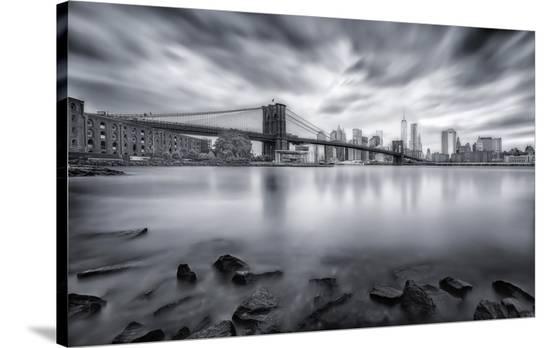 Brooklyn Bridge-Javier De La-Stretched Canvas Print