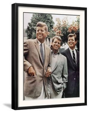 Brothers, John F. Kennedy, Robert Kennedy, and Ted Kennedy, Right, in Hyannis Port, Massachusetts