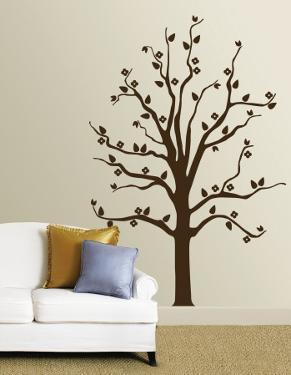 Brown Floral Tree
