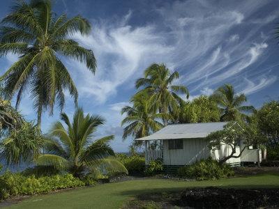 House at Kalahu Point near Hana, Maui, Hawaii, USA