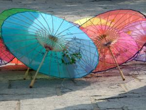 Umbrellas For Sale, China by Bruce Behnke