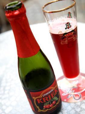 Black Cherry Test Lindemans Kriek Beer Served in Local Bar. by Bruce Bi