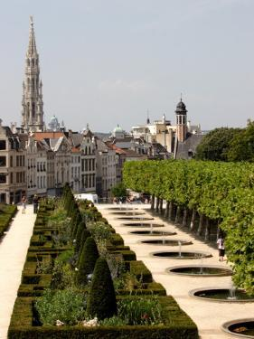 Park of Mont-Des-Arts with Tower of Hotel De Ville in Background. by Bruce Bi