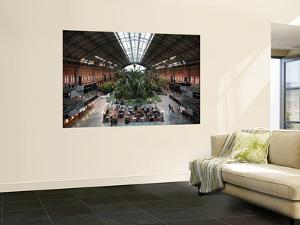 Tropical Garden and Cafe in Atocha Railway Station by Bruce Bi
