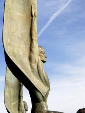 Winged Bronze Statue Decorating Hoover Dam, Near Boulder City by Bruce Bi