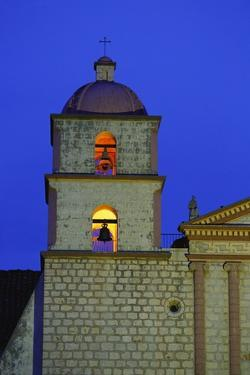 Bell Tower of the Santa Barbara Mission Church by Bruce Burkhardt