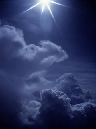 Bright Star Above Clouds
