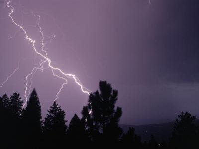 Lightning Over the Rockies