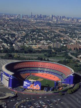 Shea Stadium, Aerial View, Ny Mets by Bruce Clarke