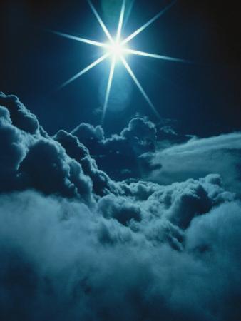 Sun Glare Above Clouds