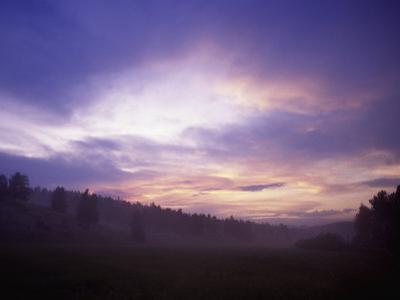 Sunrise in Yellowstone National Park