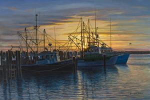 Point Judith Harbor Sunset by Bruce Dumas