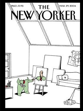 The New Yorker Cover - March 29, 2004 by Bruce Eric Kaplan